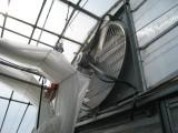 室温を保つ大型送風機